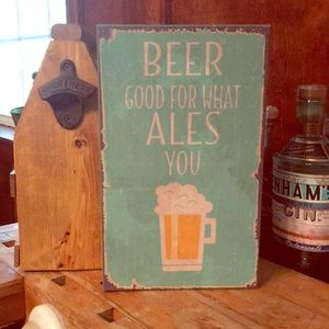 Cute wooden BEER sign